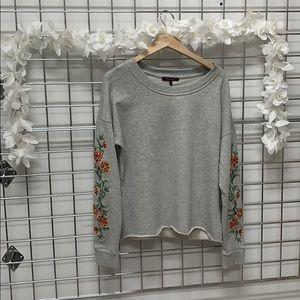 Olivia Sky flower embroidered sweatshirt